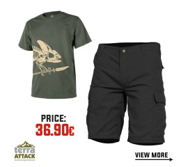 BDU SHORTS - HELIKON T-SHIRT OFFER PACKAGE #2