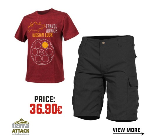 BDU SHORTS - HELIKON T-SHIRT OFFER PACKAGE #4