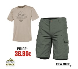 BDU SHORTS - HELIKON T-SHIRT OFFER PACKAGE #5