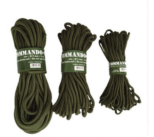 OD 5MM (15M) COMMANDO ROPE