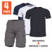 4-Pack BDU shorts WOLF GREY + Orpheus T-shirt