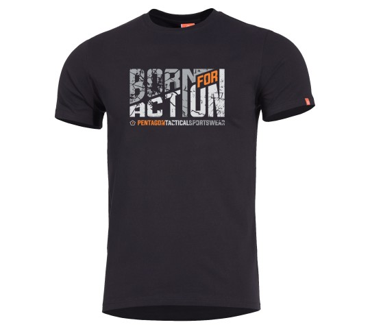AGERON T-SHIRT BORN FOR ACTION K09012-BA