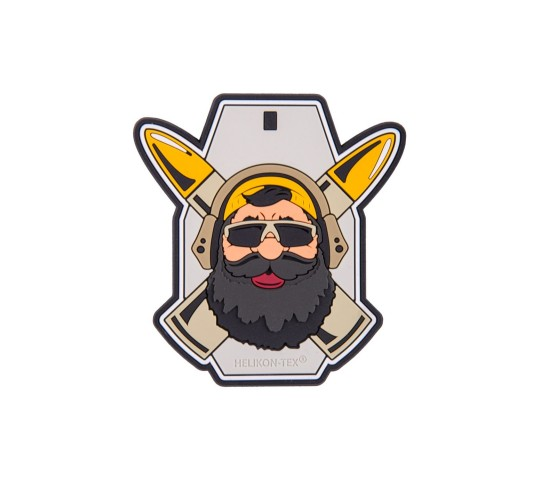 """BEARDMAN RANGE"" PATCH - PVC - GREY -  HELIKON TEX"