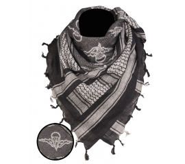 BLACK/WHITE SHEMAGH SCARF ′PARATROOPER′